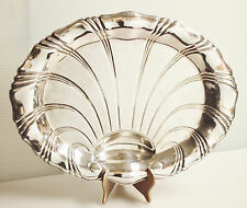 Vtg Silver Plate Oval Footed Serving Platter/ Tray by 1847 Rogers Bros, Is Co.