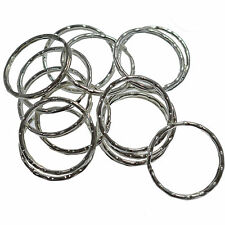 20 Ripple Key Ring Split Jump Ring Connector Silver 25 mm Jewellery Findings
