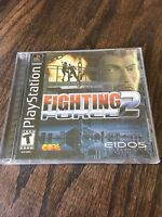 Fighting Force 2 Sony PlayStation 1 PS1 PSX PSONE Black Label Cib Game
