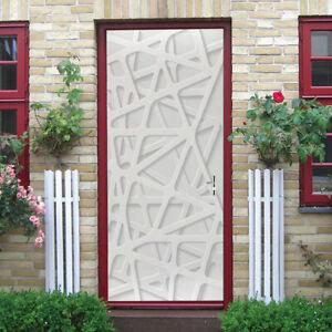 3D geometry door Self-Adhesive Living Room Door Murals Wall Sticker Photo