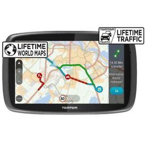 TomTom Go 6100 Sat Nav Mit Mydrive & Lebenszeit Verkehr & Lebenslange Weltkarten