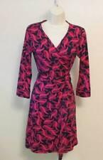 Diane von Furstenberg New Julian two mini Tweed wave pink dahlia wrap dress 8