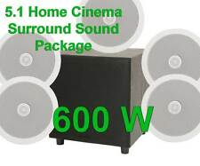 5.1 Surround Heimkino Decke Lautsprecher + aktiver Sub Bass Hifi Paket B
