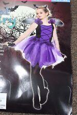 BAT FAIRY GIRLS COSTUME Small 4-6 Purple Wings Cute Halloween Living Fiction NEW