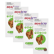 BRAVECTO for Medium Dogs 10 -20kg X 2 Chews (6 Months Protection)