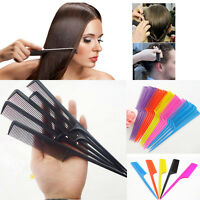 5/10Pcs Hair Comb Salon Brush Styling Hairdressing Rat Tail Plastic Comb Beauty