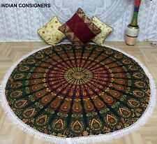 Queen Tapestry Roundies Design Mandala Cotton Hippie Wall Hanging Ombre Ethnic