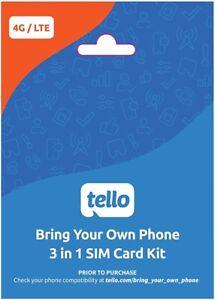 Tello Mobile Prepaid 6-Month Plan: Unlimited Talk/Text/2GB LTE Data $63 Value