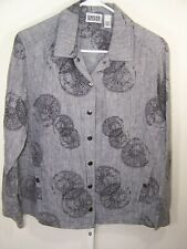 Chicos Design Womens Long Sleeve Button Down Shirt Size 1