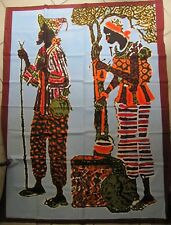 Tenture ethnique avec FAMILLE AFRIQUE - MULTICOLORE - 147 x 112 Cm - NEUF- COTON