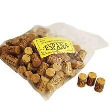 """N°100 Tappi sughero """"Espana"""" monopezzo 26x40 mm per bottiglie bordolesi vino"""