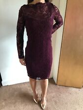Next Lace Wiggle Pencil Dress Deep Red Size 14 Nwts!!