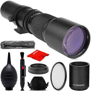 500mm/1000mm f/8 Telephoto Lens for Nikon F FX DX D5 D850 D750 D7500 D5600 D3400