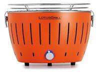 LotusGrill Pequeño Compacto Mandarina Libre de Humo Carbón / Barbacoa Mesa USB