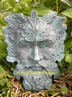 NEW RUBBER LATEX MOULD MOLD PAGAN WICCAN GREENMAN GREEN MAN WALL PLAQUE 12