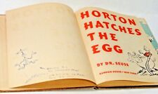 DR. SEUSS SIGNED, INSCRIBED, & DRAWING - HORTON HATCHES THE EGG 1940 1ST ED.