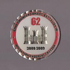 "62 Engineer Combat Battalion   Challenge Coins  2"" DIA"
