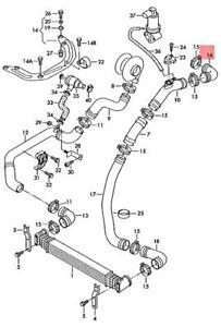 Genuine VW SEAT Sharan syncro 4Motion Alhambra 7M6 Pressure Hose 7M3145834B
