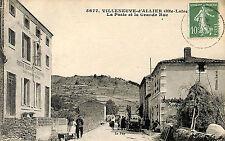43 VILLENEUVE-D' ALLIER CARTE POSTALE LA POSTE 1922