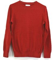 Kim Rogers Women's Size Large Long Sleeve Crew Neck Cable Knit Sweater Top Red