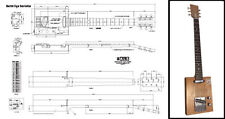 6-String Electric Cigar Box Guitar Full-Scale Plan