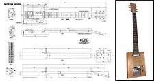 6-String Electric Cigar Box Guitar Full-Scale Plan