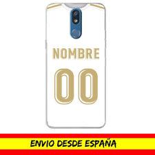 Funda Movil LG / Camiseta Futbol Compatible con Real Madrid Nombre Numero Dibujo