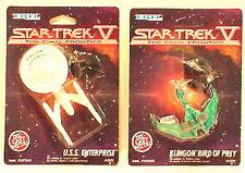 Vintage Star Trek V Die Cast ERTL Ship Set of 2-Enterpr/Klingon- WAREHOUSE FIND
