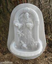 New listing Plastic St. Francis wall bird bath/feeder/planter mold plaster concrete mould