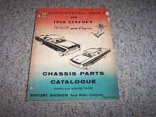 1956 Lincoln Continental Mark II 2 Premiere Capri Chassis Parts Catalog Manual