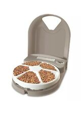 PetSafe  5-Meal Dog and Cat Automatic Feeder Dispenser - Grey/White - MINT