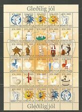 Faroe Is 2005 Christmas Seals complete sheetlet--Attractive Art Topical MNH