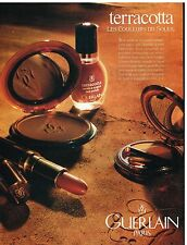 Publicité Advertising 1992 Cosmétique Maquillage Terracota Guerlain