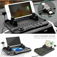 Auto Car Dashboard Stand Mount USB Charger Cradle Holder For iPhone Android GPS