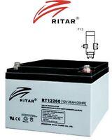 RITAR 12V 26AH  DEEP CYCLE AGM BATTERY GOLF CART WHEEL CHAIR