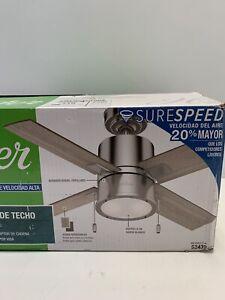 Beck LED 42-in Brushed Nickel LED Indoor Ceiling Fan (4-Blade)