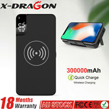 2in1 Qi Wireless External Battery Charger 100000mah Power Bank FR Phone AU Fast