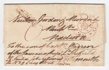 GB 1799 SCARCE ENTIRE LETTER 6d LONDON TO MADEIRA WITH ANNOTATION JAMAICA SHIP