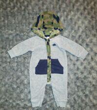 Vguc Carters Baby Boy Clothes 3 Months One Piece Fleece Hooded Dinosaur Romper