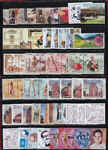 INDIA 2020 Complete Year Set of 55 Commemorative Stamps + 7 Miniature Sheets MNH