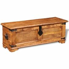 Rustic Storage Chest Trunk Handmade Unique Coffee Table Rough Mango Solid Wood