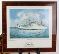 Texaco 1976 Empire State Ship Print by James E. Mitchell on Wood  Nautical Ocean