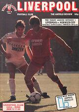 1986/87 Liverpool v Norwich City, Division 1, PERFECT CONDITION