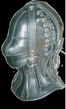 Real leather suffocating mask hood gimp cuir mask slave air tight kink halloween