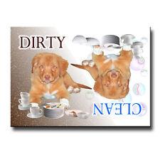 NOVA SCOTIA DUCK TOLLER Clean Dirty DISHWASHER MAGNET No 2