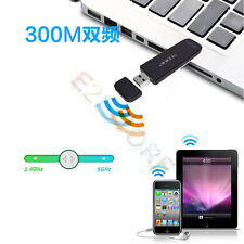 300Mbps 5.8G 2.4G Dual Band Ethernet Wireless Wifi Adapter USB External LAN Card