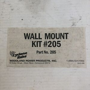 Cyclone Rake Wall Mount Kit Storage Rack #205 *No Bolts