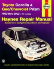 Haynes Manuals: Toyota Corolla and Geo/Chevrolet Prizm 1993 Thru 2002 by John Ha