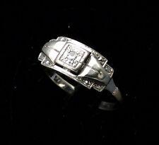 Magnifico Anello Antico Oro 18 Carati - Diamanti 0.05 Carati