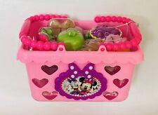 NIB Disney Minnie Bow-Tique Bowtastic Shopping Basket Set Toy